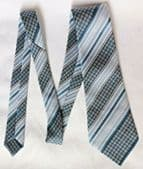 Houndstooth vintage striped grey tie Canda C and A made in Ireland washable